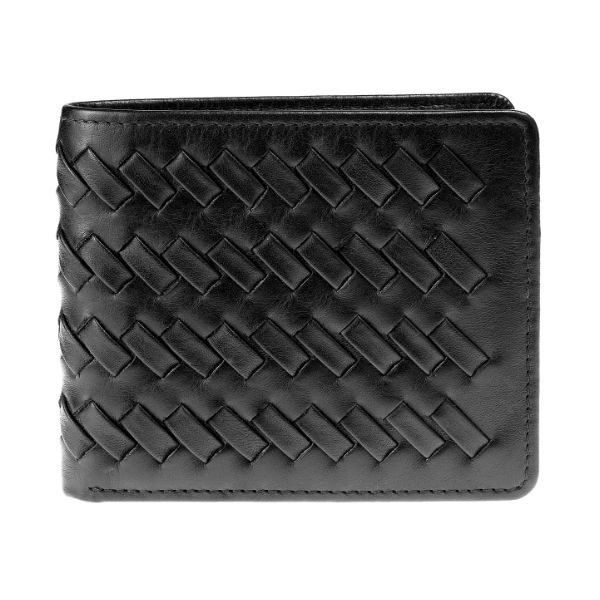 Weave_Flap_Wallet_Black_Front